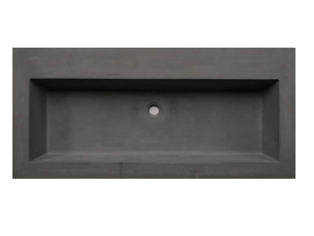 Lambini Designs Concrete meubelwastafel 100cm zonder kraangat betongrijs