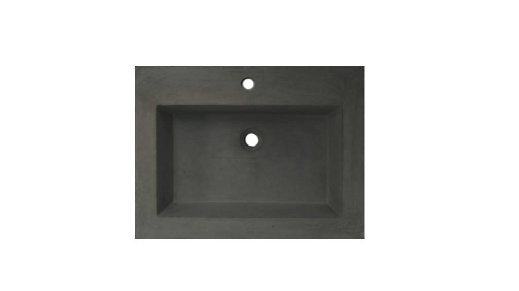 Lambini Designs Concrete meubelwastafel 60cm 1 kraangat betongrijs