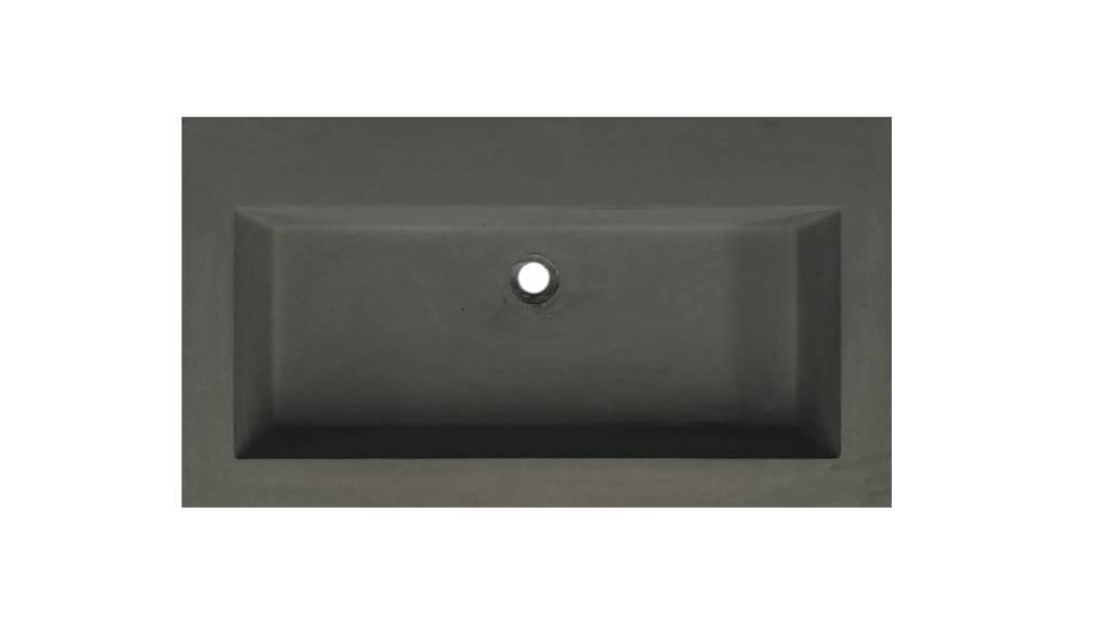 Lambini Designs Concrete meubelwastafel 80cm zonder kraangat betongrijs