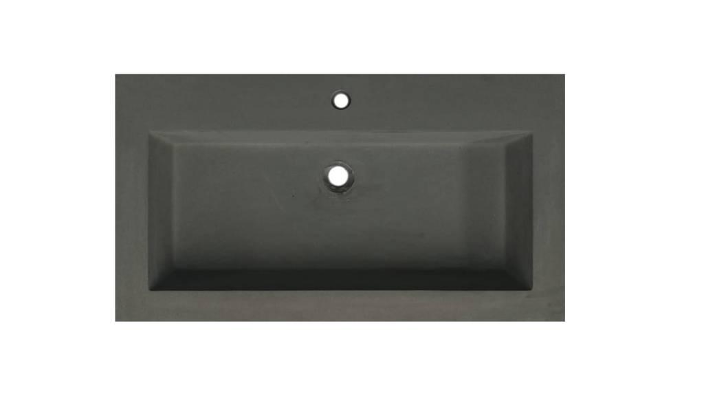 Lambini Designs Concrete meubelwastafel 80cm 1 kraangat betongrijs