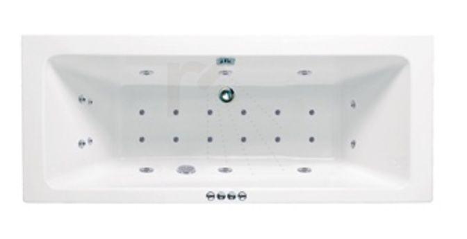 Productafbeelding van Lambini Designs Cube Bubbelbad 180x80cm 6+4+2 hydro en 12 aero jets
