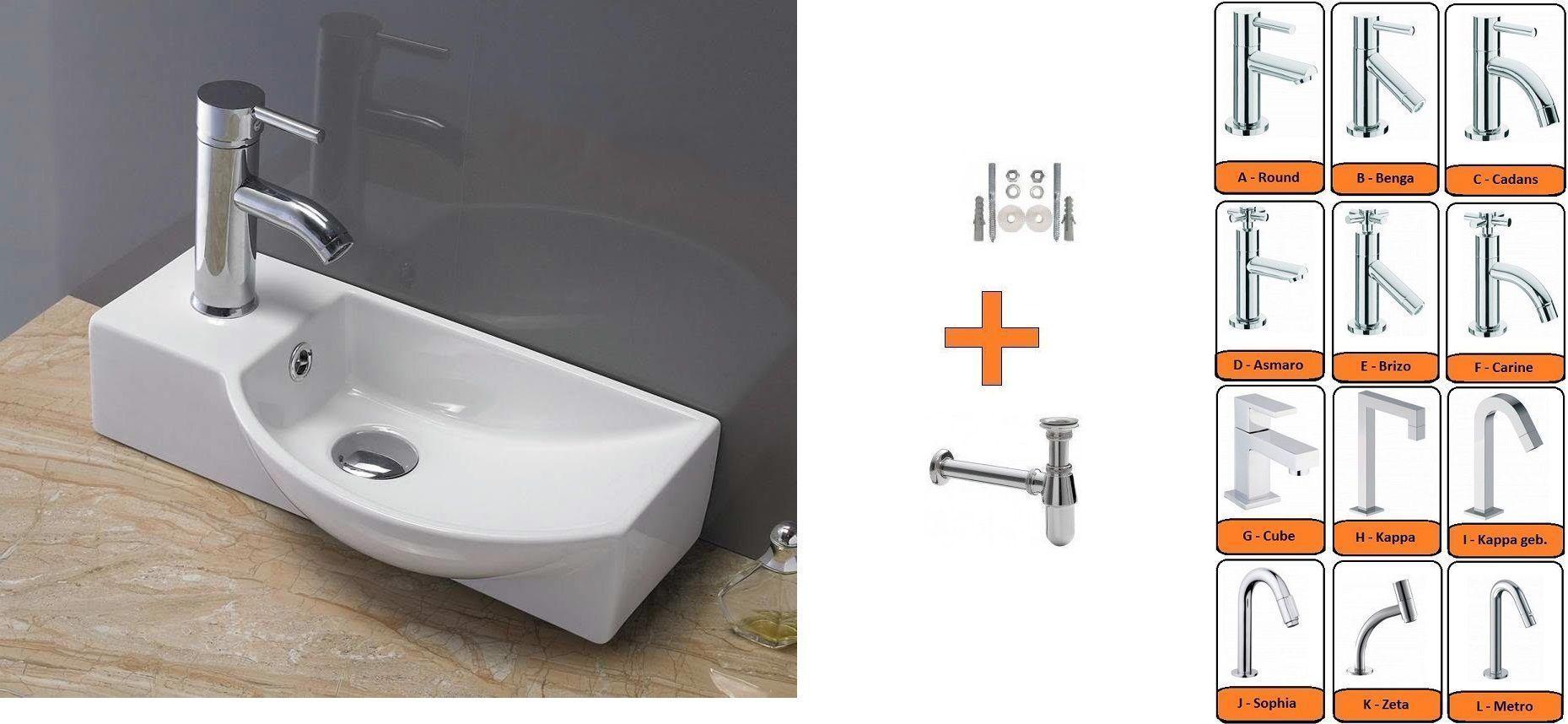 Lambini Designs Faro fontein met kraan complete set 40x22cm