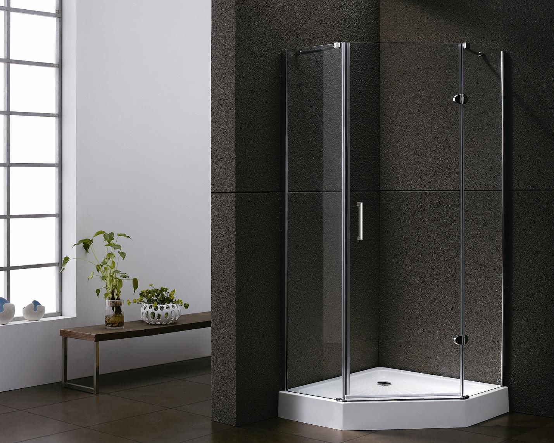SHOWMODEL: Lambini Designs Keulen douchecabine vijfhoek 90x90cm