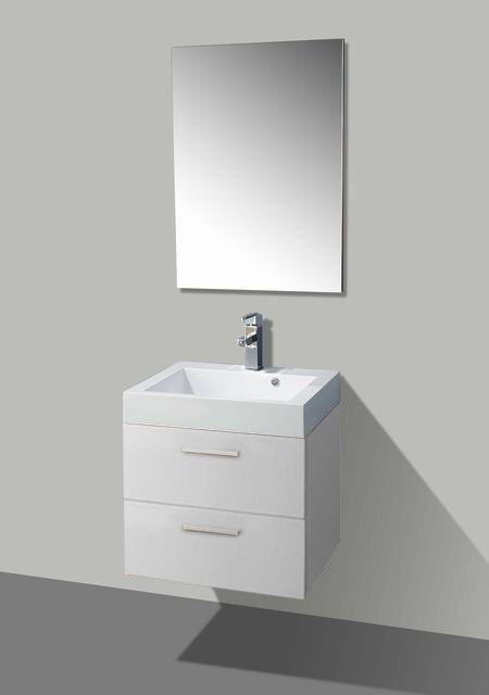 Lambini Designs New York badkamermeubel hoogglans wit 58cm