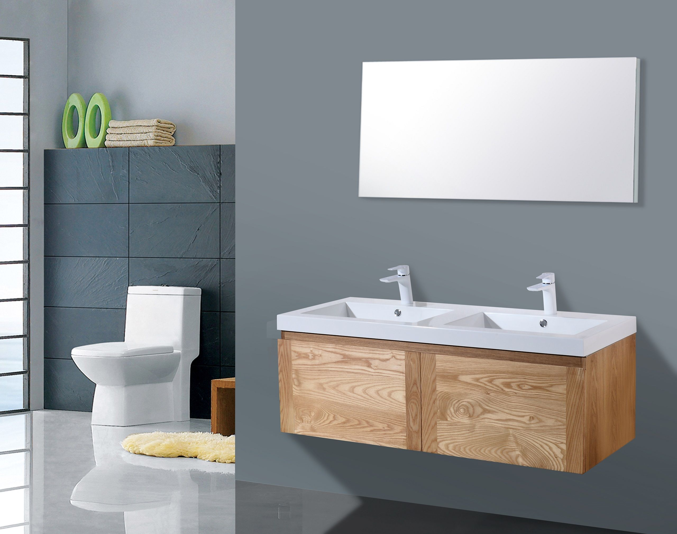 Lambini Designs Orion houten badmeubel eiken 120cm
