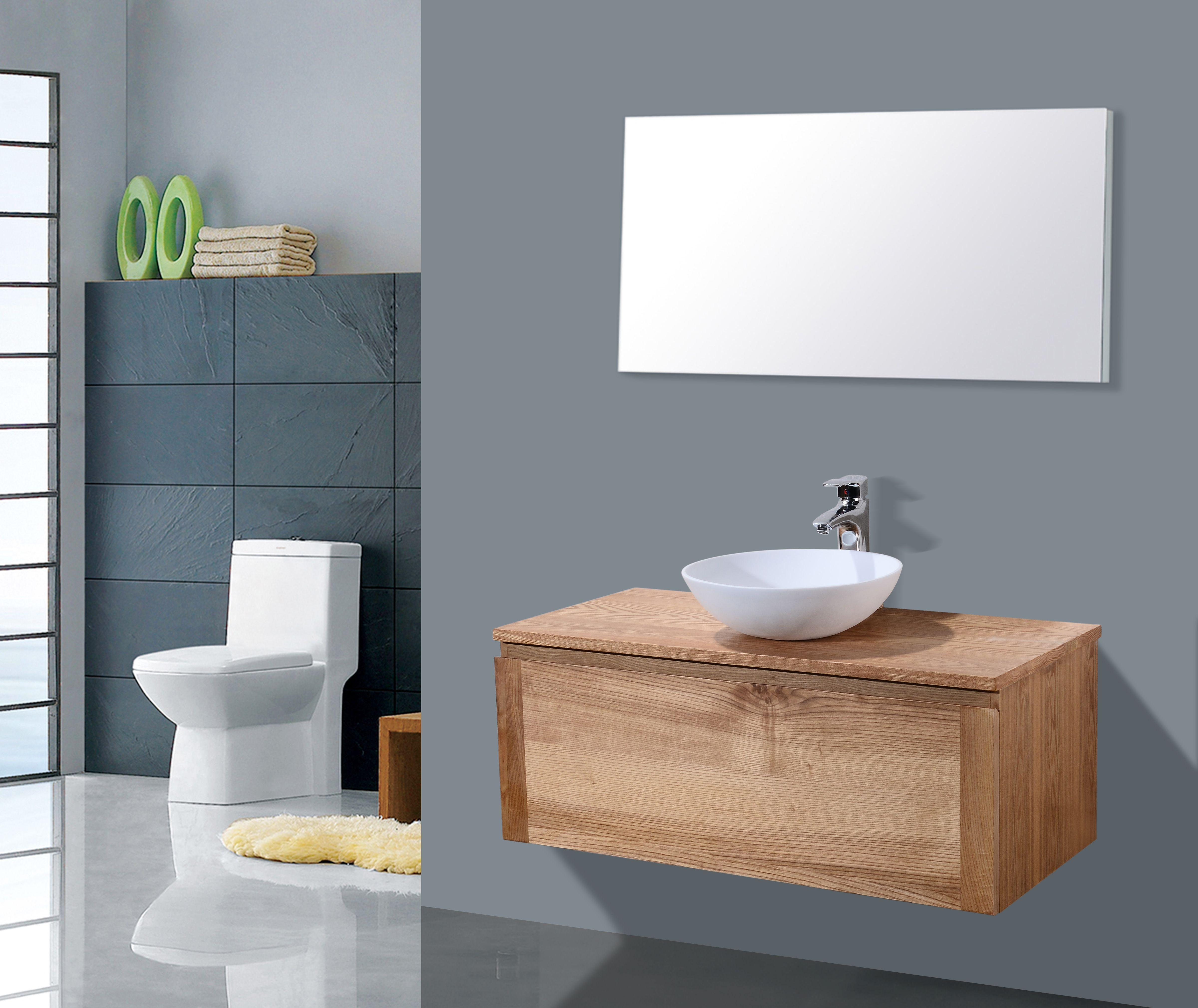 Lambini Designs Orion houten badmeubelmeubel eiken 100cm
