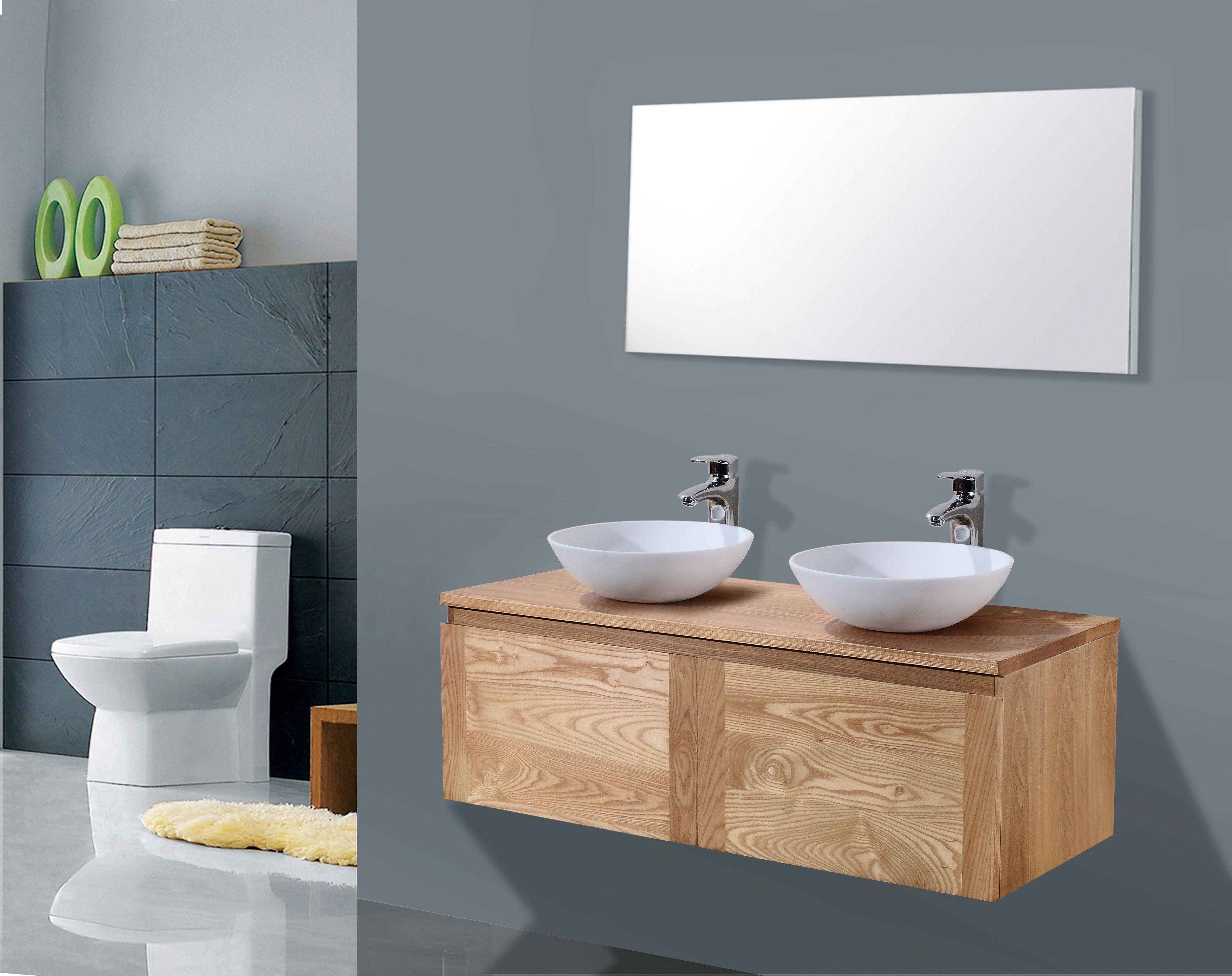 Lambini Designs Orion houten badmeubelmeubel eiken 120cm