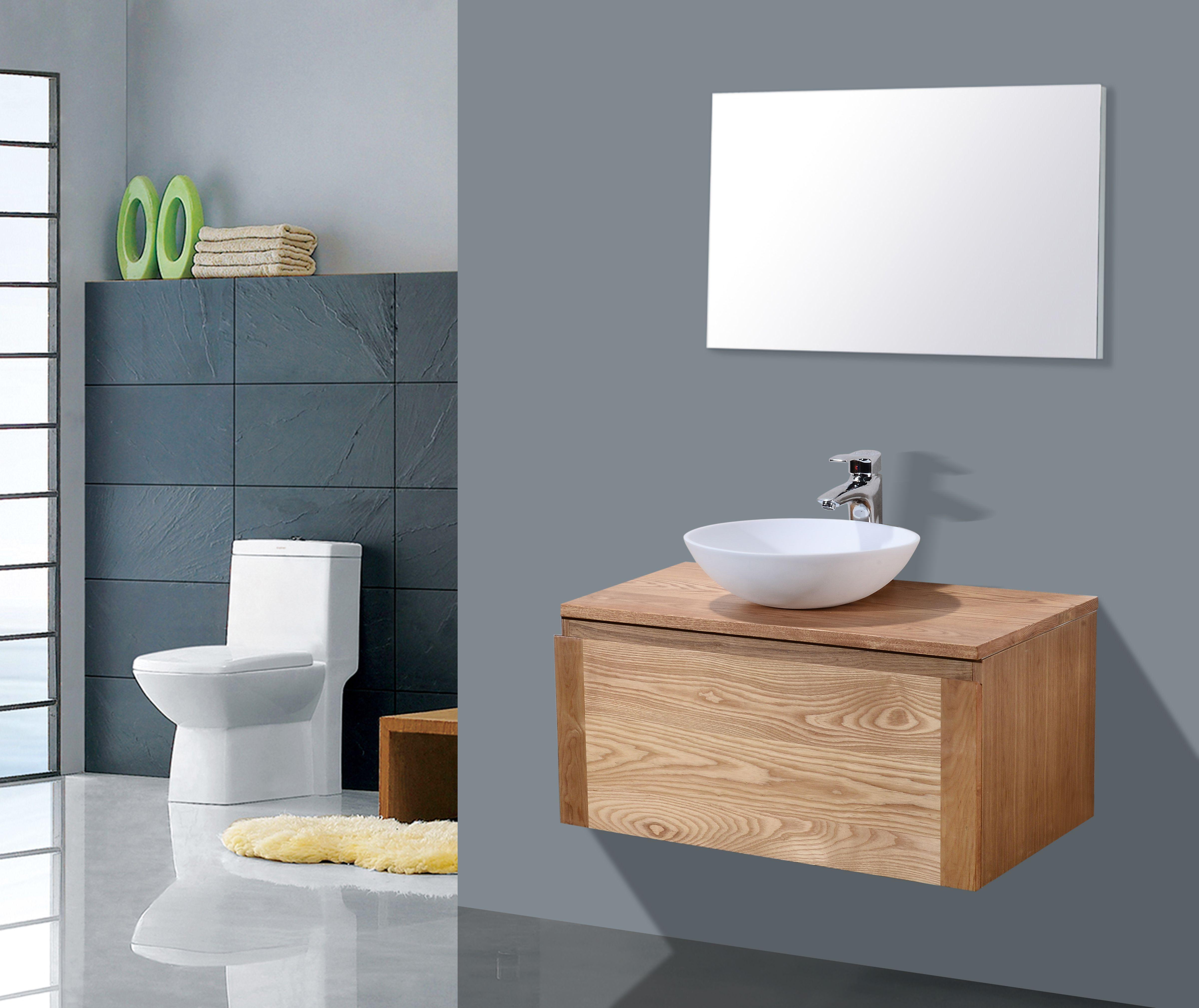 Lambini Designs Orion houten badmeubelmeubel eiken 80cm
