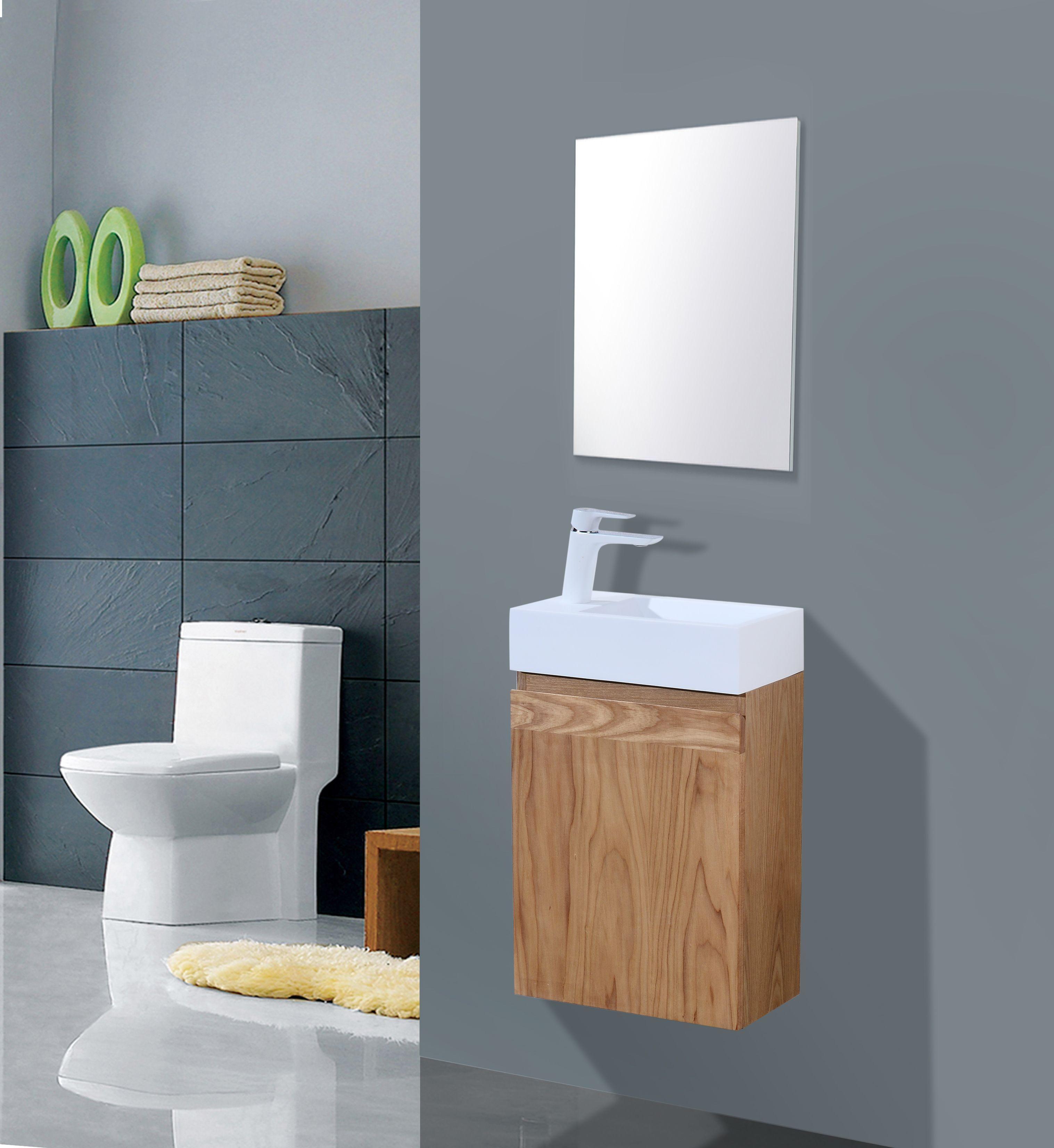 Lambini Designs Orion houten eiken toiletkast rechts