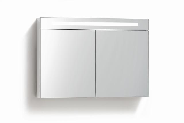Productafbeelding van Lambini Designs TL spiegelkast Hoogglans antraciet 100cm
