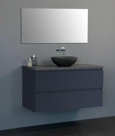 Lambini Designs Trend Dynasty badkamermeubel hoogglans antraciet 100cm