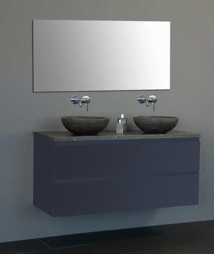 Lambini Designs Trend Dynasty badkamermeubel hoogglans antraciet 120cm