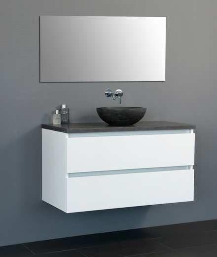 Lambini Designs Trend Dynasty badkamermeubel hoogglans wit 100cm