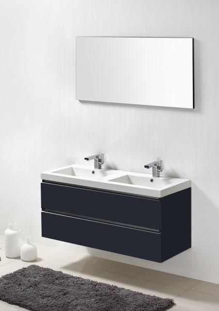 Lambini Designs Trend Line badkamermeubel hoogglans antraciet 120cm