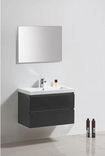 Lambini Designs Trend Line badkamermeubel hoogglans antraciet 80cm
