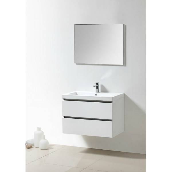 Lambini Designs Trend Line badkamermeubel hoogglans wit 80cm