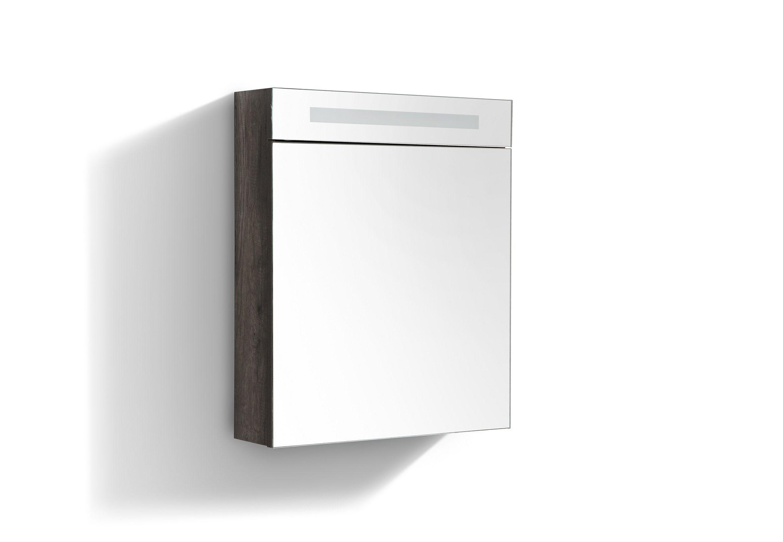 Productafbeelding van Lambini Designs Trend Line spiegelkast 60x70cm century oak links