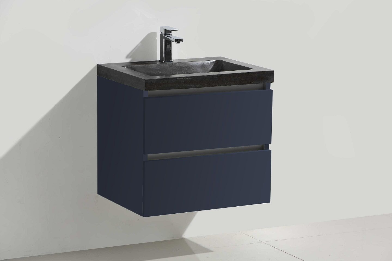 Lambini Designs Trend Stone badkamermeubel hoogglans antraciet 60cm