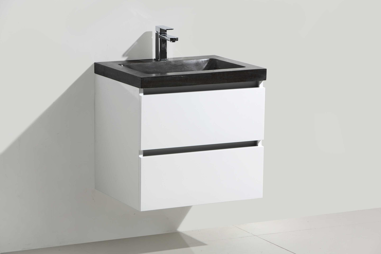 Lambini Designs Trend Stone badkamermeubel hoogglans wit 60cm