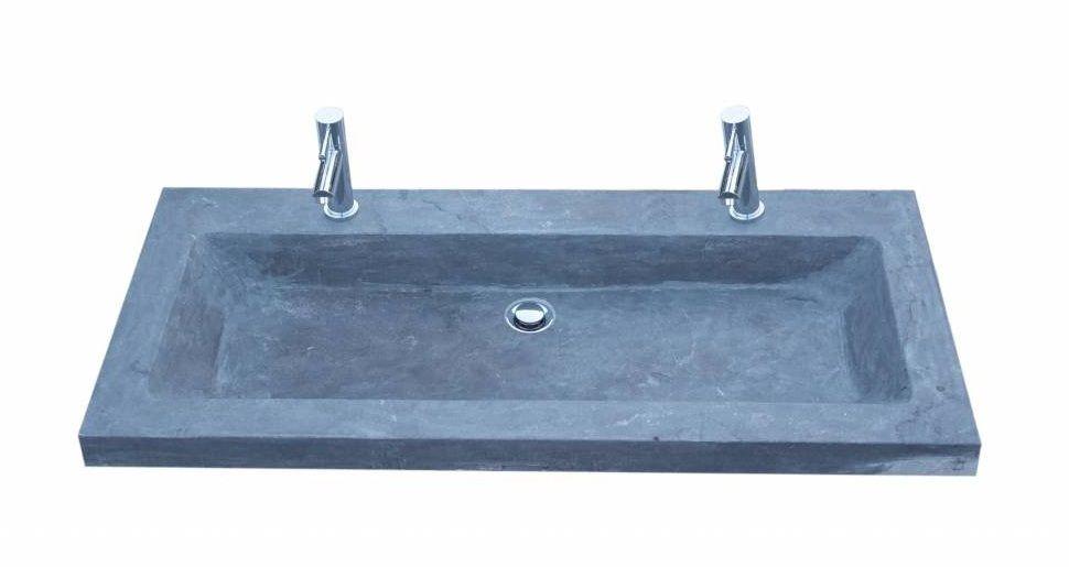 Lambini Designs trend stone meubelwastafel 100cm 2kraangaten