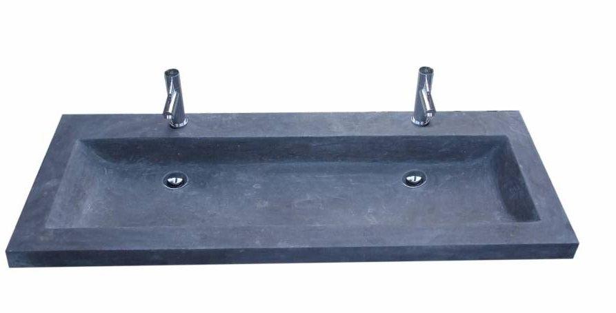 Lambini Designs trend stone meubelwastafel 120cm 2kraangaten