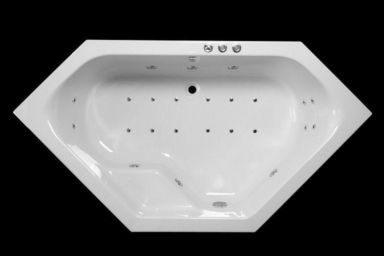 Lambini Designs Venetië Bubbelbad 145x145cm 6+4+2 hydro en 12 aero jets kopen doe je voordelig hier