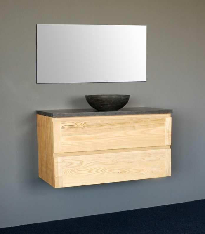 Lambini Designs Wood Dynasty badkamermeubel eiken 100cm