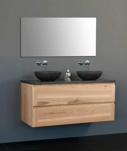 Lambini Designs Wood Dynasty badkamermeubel eiken 120cm