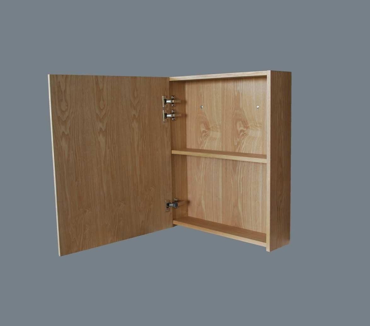 Lambini Designs Wood spiegelkast Eiken 58cm links