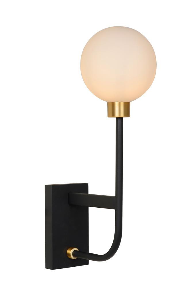 Lucide BEREND Wandlamp Badkamer 1xG9-33W 13-21-40cm Zwart