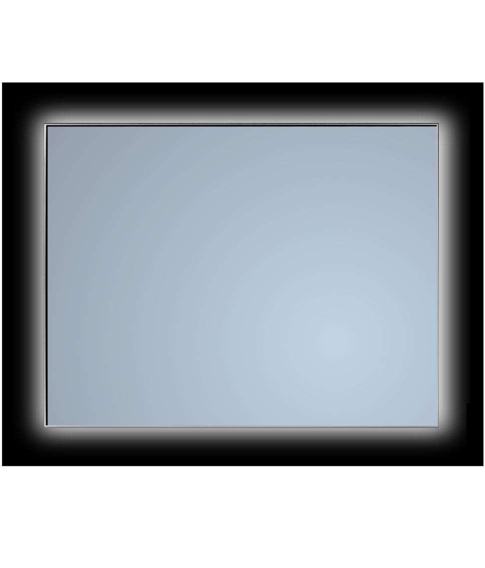 Sanicare Spiegel Ambiance 90 cm. met Cool White leds (dimbaar met handsensor schakelaar) omlijsting zwart
