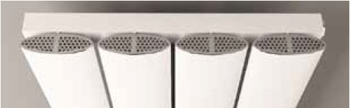 Eastbrook Malmesbury design radiatorrooster Chroom 37,5cm