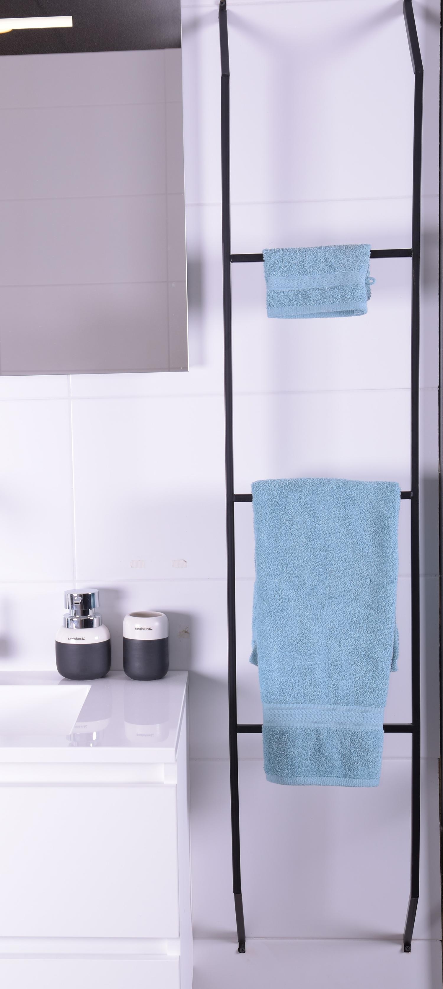 MD Interior Tris zwart handdoekrek 153x30x10cm