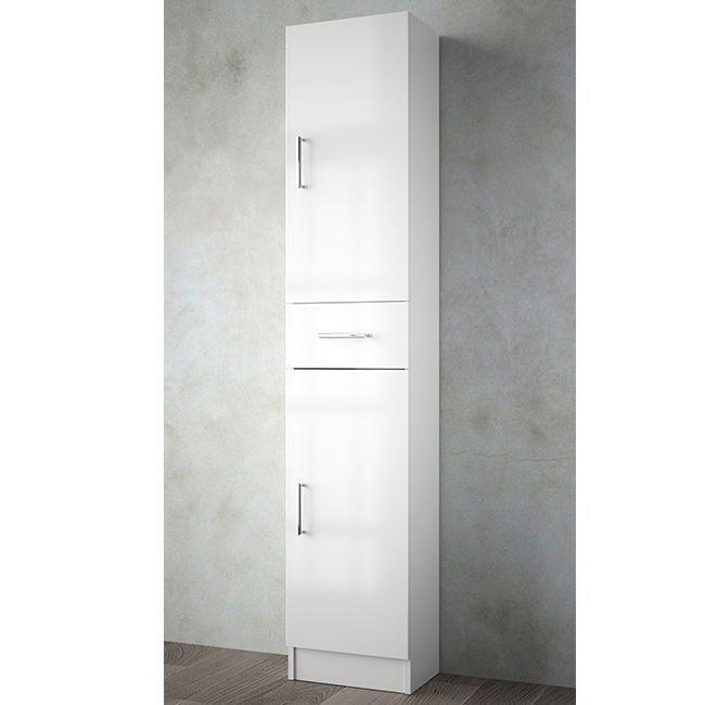 Muebles Auxi badkamerkast hoogglans wit 180x36x24cm 2 deuren 1 lade