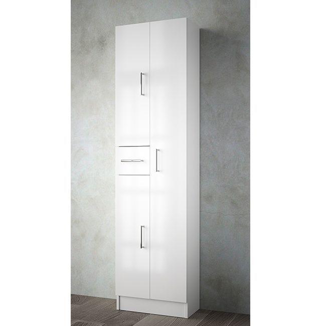 Muebles Auxi badkamerkast hoogglans wit 180x48x24cm 3 deuren 1 lade