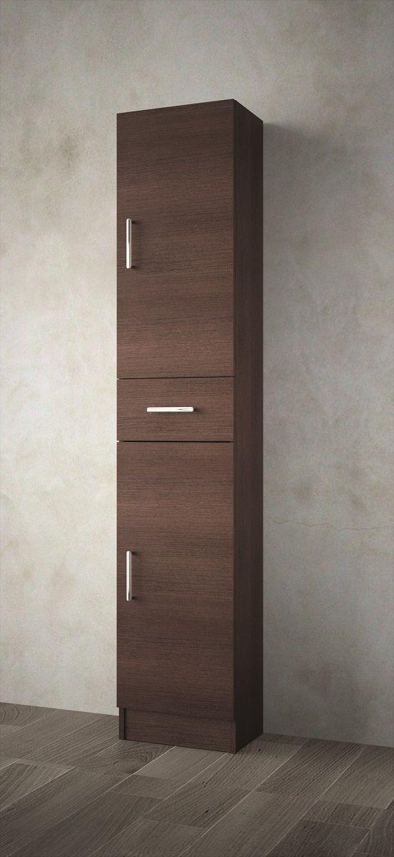 Muebles Auxi badkamerkast wenge 180x36x24cm 2 deuren 1 lade