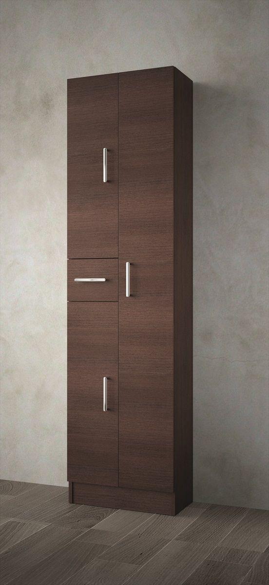 Muebles Auxi badkamerkast wenge 180x48x24cm 3 deuren 1 lade