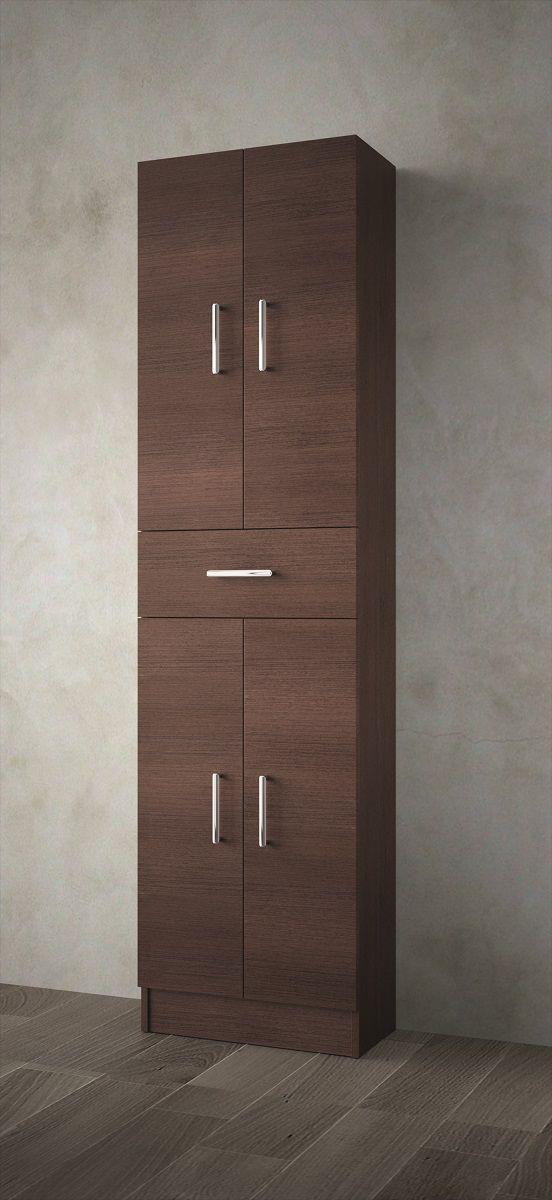 Muebles Auxi badkamerkast wenge 180x48x24cm 4 deuren 1 lade