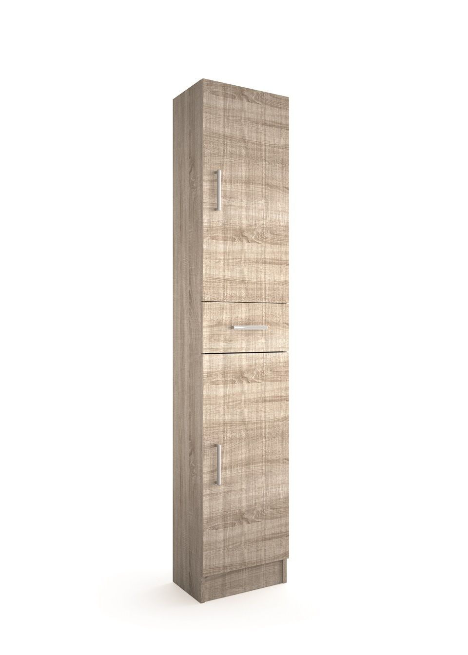 Muebles Auxi hoge opbergkast caledonia 180x36x24cm 2 deuren 1 lade