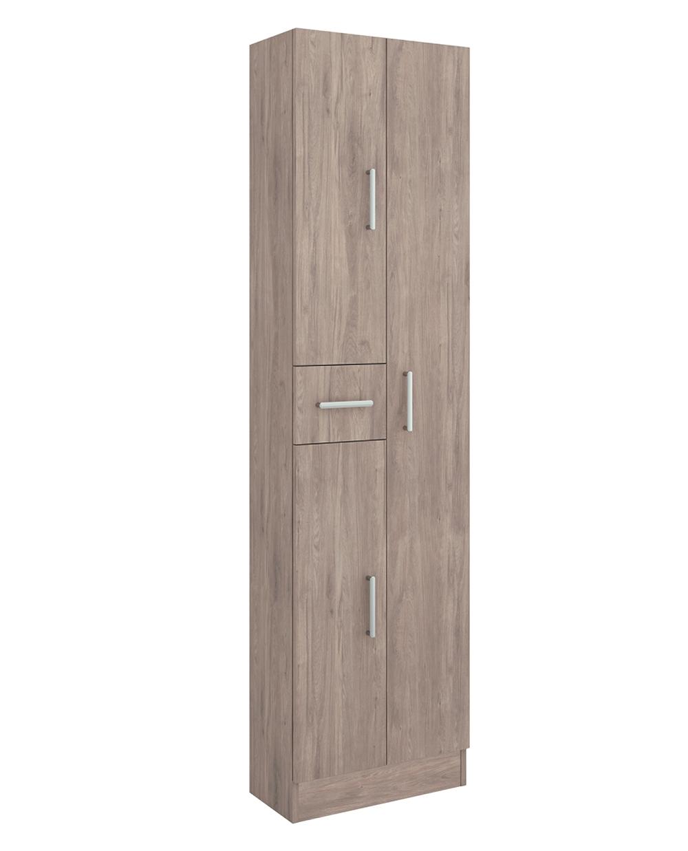 Muebles Auxi hoge opbergkast Colorado 180x48x24cm 3 deuren 1 lade