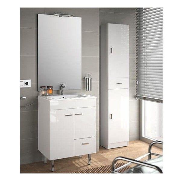 Muebles Beta staand badkamermeubel 60cm hoogglans wit