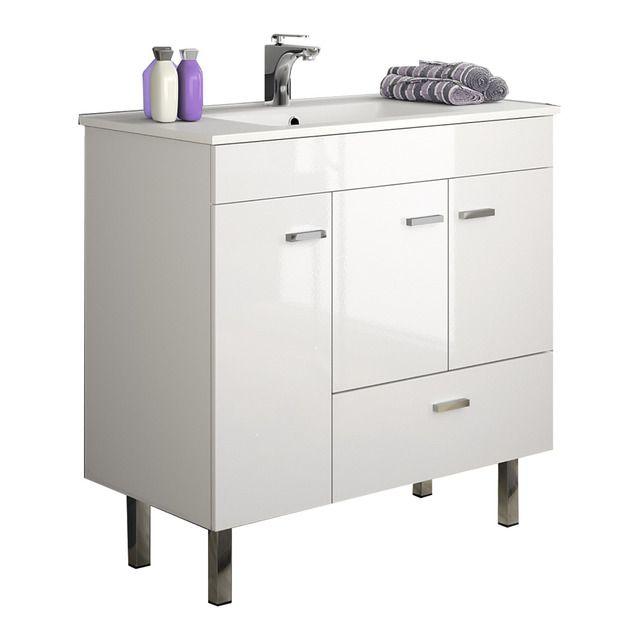 Muebles Beta staand badkamermeubel 80cm hoogglans wit