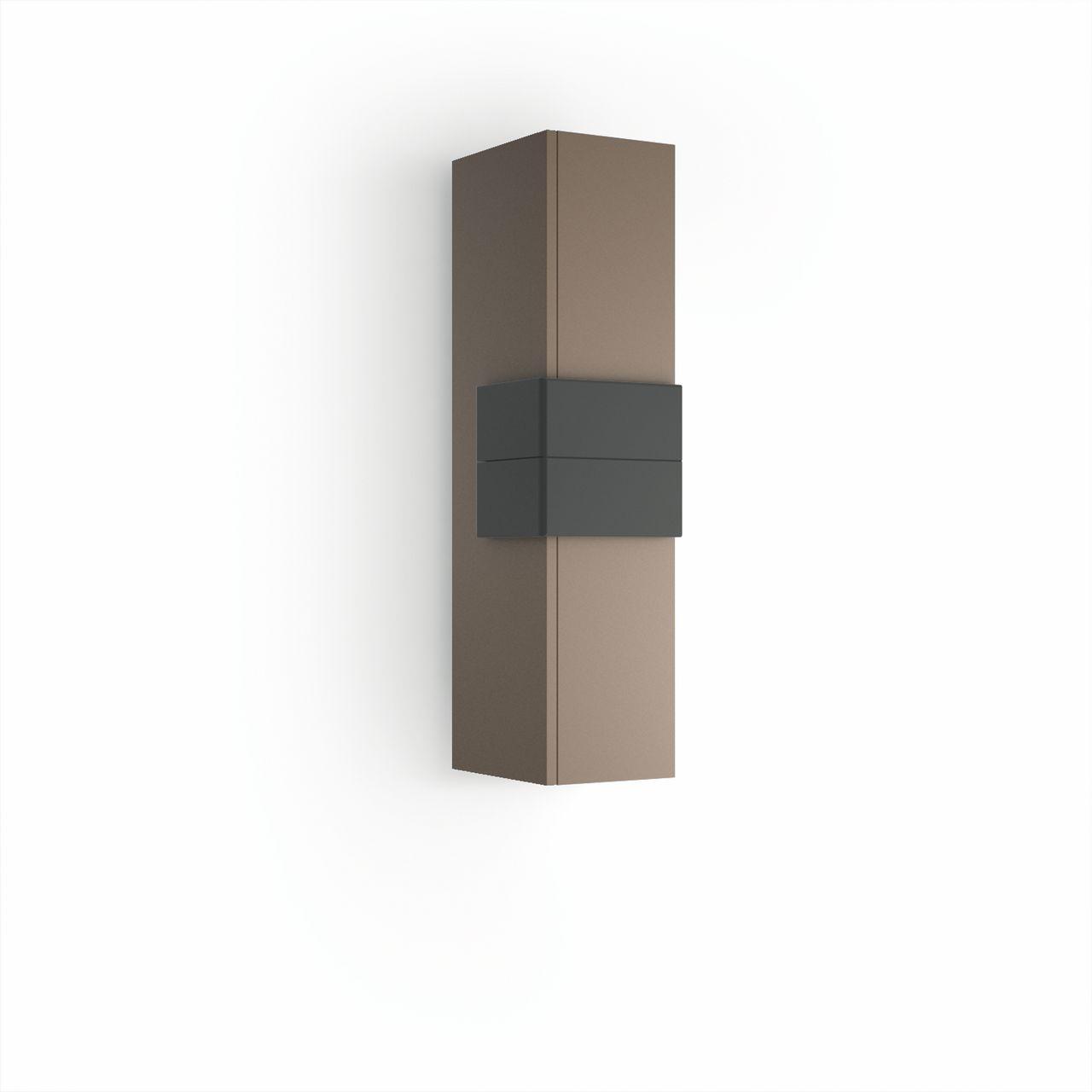 Muebles Cronos halfhoge badkamerkast 100cm mokka - antraciet