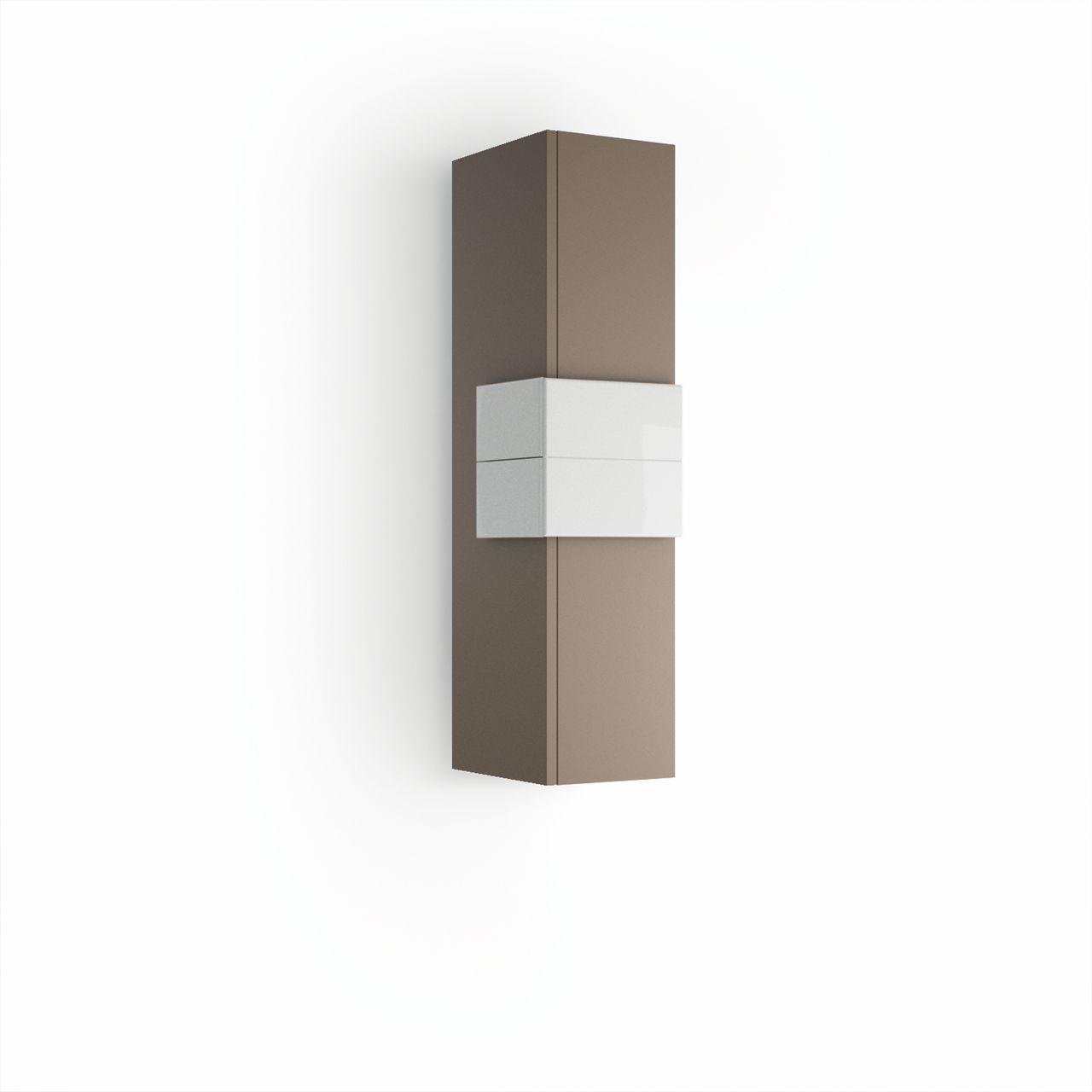 Muebles Cronos halfhoge badkamerkast 100cm mokka - wit