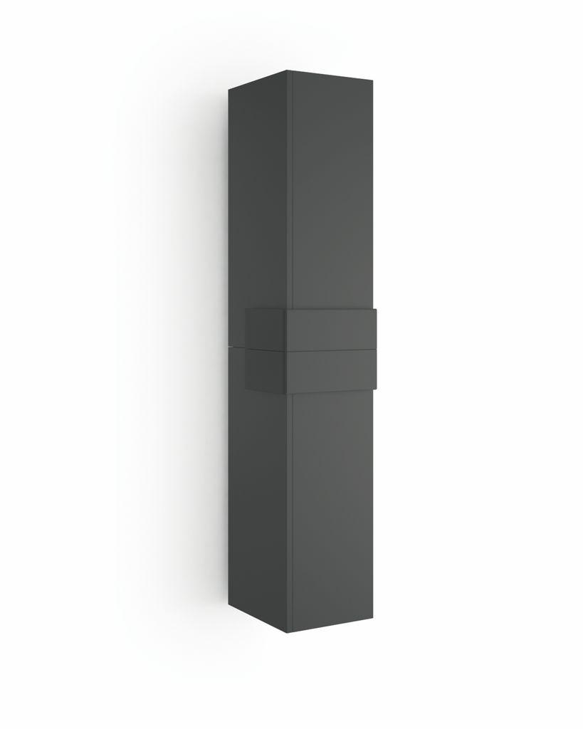 Muebles Cronos hoge kast 160cm antraciet - antraciet unieke afwerking
