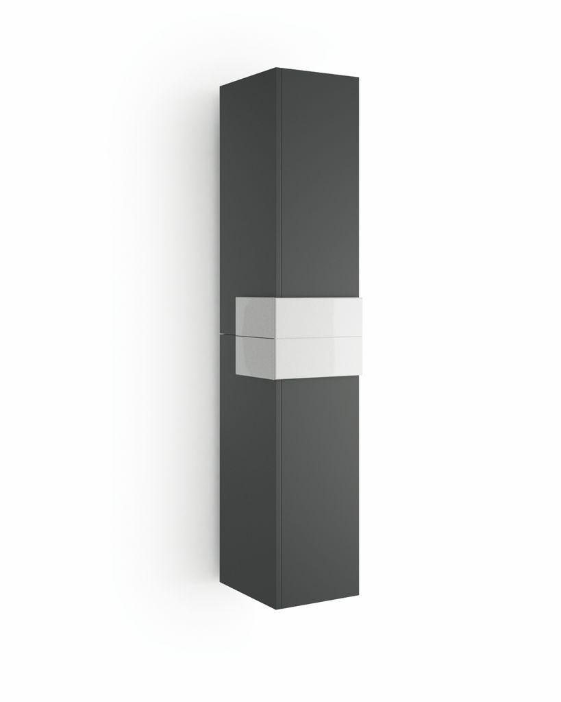 Muebles Cronos hoge kast 160cm antraciet - wit unieke afwerking