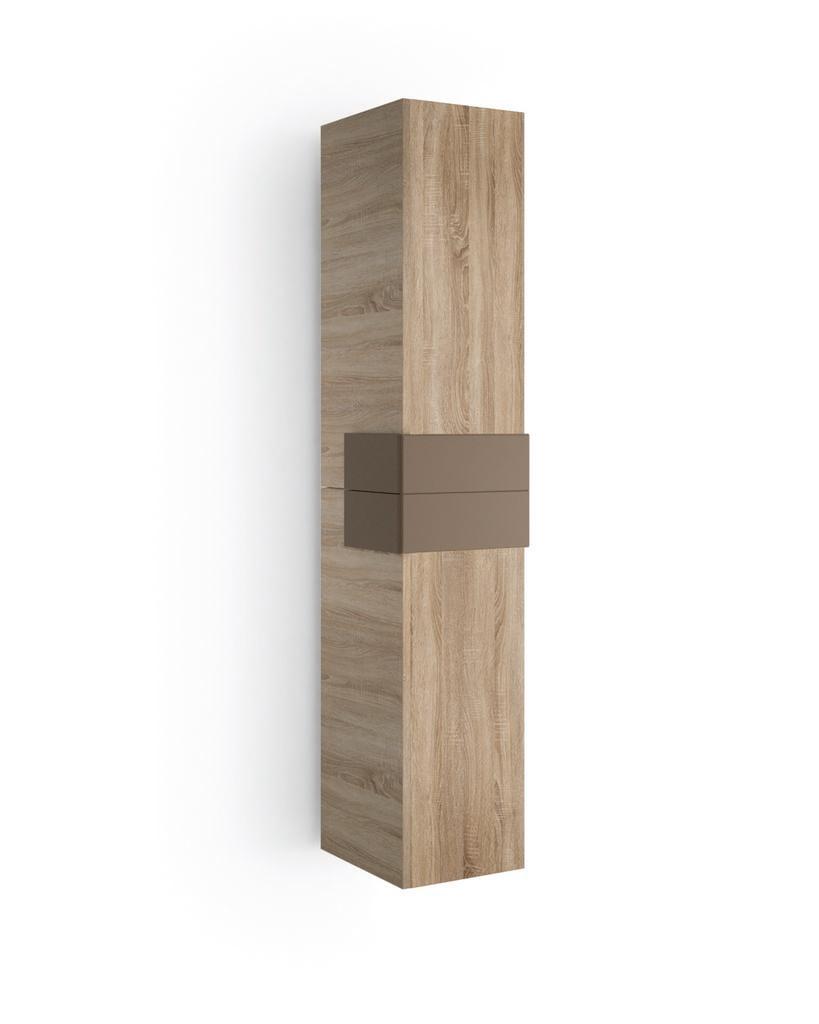 Muebles Cronos hoge kast 160cm eiken - mokka unieke afwerking