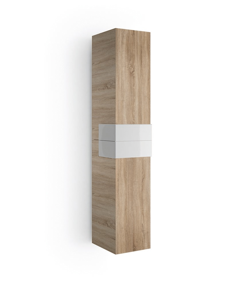 Muebles Cronos hoge kast 160cm eiken - wit unieke afwerking