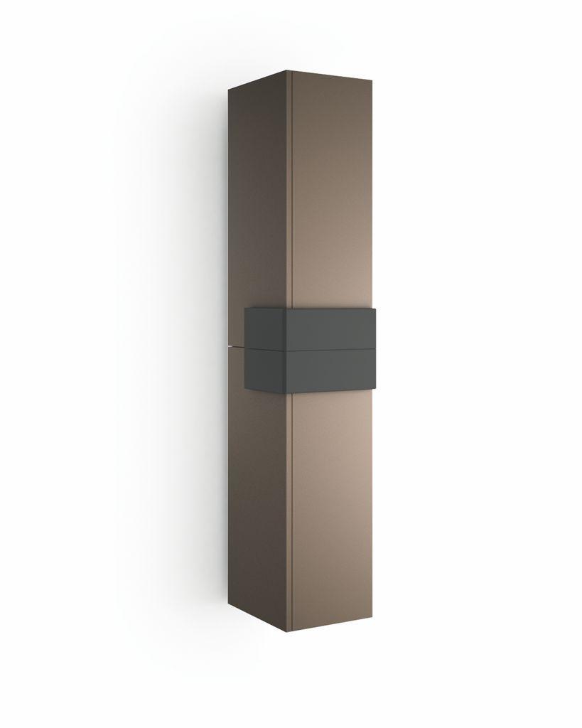 Muebles Cronos hoge kast 160cm mokka - antraciet unieke afwerking
