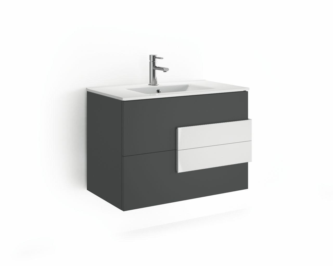 Badkamer Antraciet Wit : Badkamer accessoires muebles cronos premium badkamermeubel